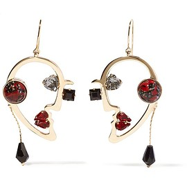 Etro - Gold-plated multi-stone earrings