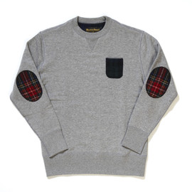 LOOPWHEELER - Harris tweed crew neck