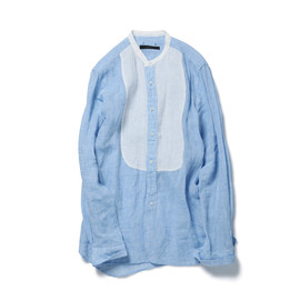 SOPHNET. - BAND COLLAR WORK LONG SHIRT