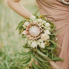 WEDDING - soft pink protea bouquet