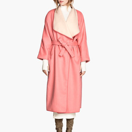 H&M - Wool-Blend Coat - Powder Pink