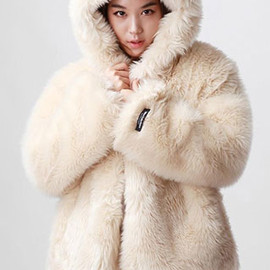 coat - Image of [grzxy6600430]Cute Sweet Fur Rabbit Hood Warm Coat