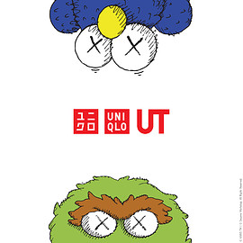 UNIQLO, KAWS, SESAMESTREET - collaboration