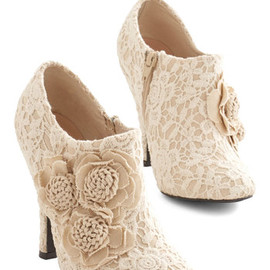 Modcloth - A Lovely Change of Lace Bootie