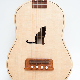 celentanowoodworks - Concert ukulele (customizable sound hole of choice) Example: Cat