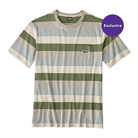 patagonia - M's Clean Color Tee, Clean Stripe: Clean Mulberry Green (CSMG)