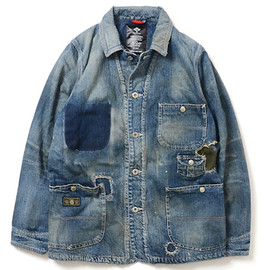 Lafayette - DAMAGED DENIM WORKER JACKET