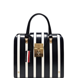 THOM BROWNE - Mrs. Thom Junior Striped Leather Tote