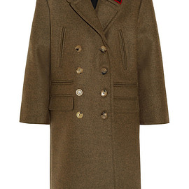 GUCCI - FW2015 Double-breasted appliquéd wool coat