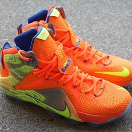 Nike - NIKE LEBRON 12 ORANGE/VOLT