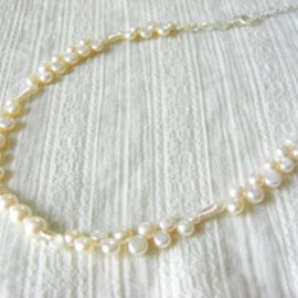 radiant - 淡水パールのホワイトネックレス/The white necklace of a freshwater pearl
