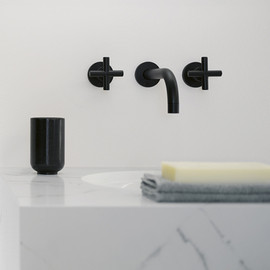 Dornbracht - Tara black wall-mounted basin mixer