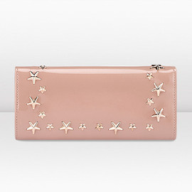 JIMMY CHOO - NINO Blush Patent Leather and Star Trim Wallet