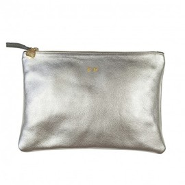 Goop - exclusive silver clutch with monogramming