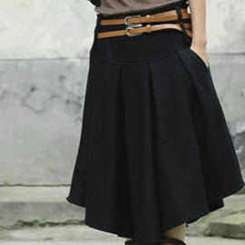 fashion - Image of [grzxy6600670]Vintage Large Size Slim Graceful Thicken High Waist Double Waistbands