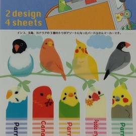 page marker インコ