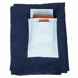 Travelteq - Linen Beach Towel with 2 Pockets