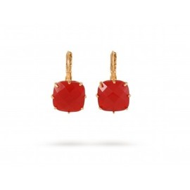 Les Nereides - EARRINGS LA DIAMANTINE SQUARE GLASS