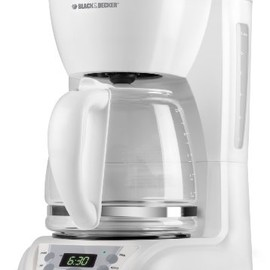 Black & Decker - 12-Cup Programmable Coffeemaker with Glass Carafe