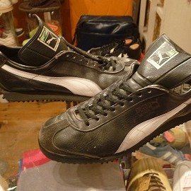 """PUMA - 「<used>80's PUMA DIETRICH WEISE UNIVERS black/white""""made in WEST GERMANY"""" size:29cm? 11800yen」販売中"""