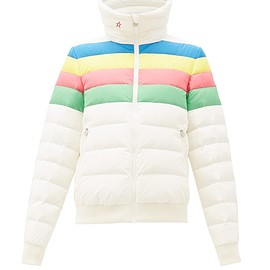 Perfect Moment - Queenie striped down-filled ski jacket