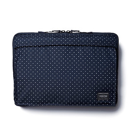 "HEAD PORTER - ""DOT"" LAPTOP CASE 11inch NAVY"