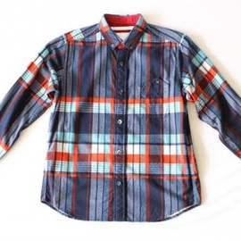 White Mountaineering - WM/Flannel Check Pattern Print Shirt