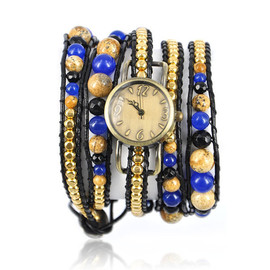 alanatt - Handmade Chain and Beads Wrap Strap Watch