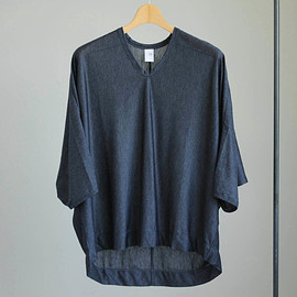 NO CONTROL AIR - NDS7T|テンセルクリスピー天竺ドルマンスリーブカットソー #navy top