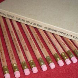 JENNY HOLZER - Survival Series Pencil Set