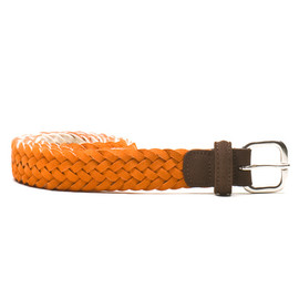 Anderson's - Woven Suede Belt - Orange