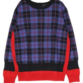 MARC BY MARC JACOBS - AIMEE PLAID SWEATER CARDIGAN