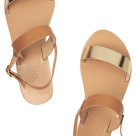 Ancient Greek Sandals - Clio two-tone leather sandals
