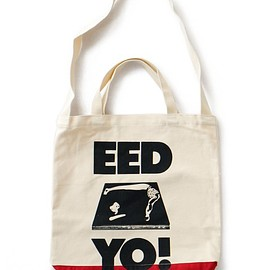 TACOMA FUJI RECORDS - EED YO! Tote bag (natural/red)