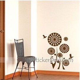 wallstickerdeal.com - Monde Circle Flower Wall Stickers