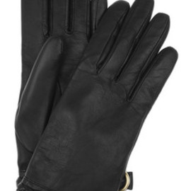 Mulberry - Braid-trimmed leather gloves