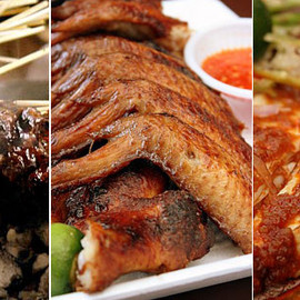 Singapore - Satay, BBQ chicken wings, Sambal stingray