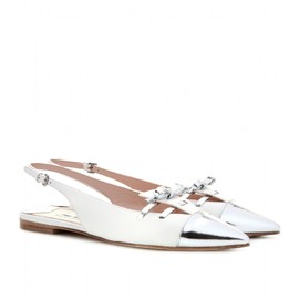 miu miu - LEATHER SLING-BACK PUMPS
