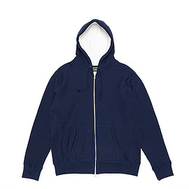 CAMBER - 12oz Zip Hood W/Colored Thermal Lining-Navy
