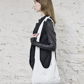 ovate - White Washed Leather Bag