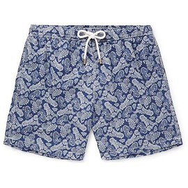 Hartford - Mid-Length Paisley-Print Swim Shorts