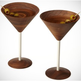 David Rasmussen - Wood Martini Glasses