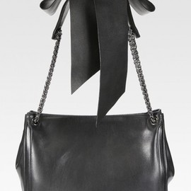 Christian Louboutin - Leather Bow and Chain Tote Bag