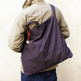 W.Z.SAC - Gloster Shoulder-Dark navy polka dot