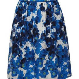Floral-Print Cotton-Twill Skirt