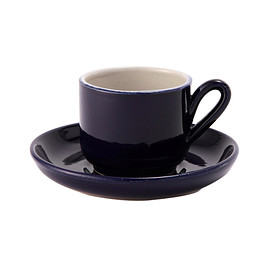 THE CONRAN SHOP - CUP AND SAUCER DARK BLUE