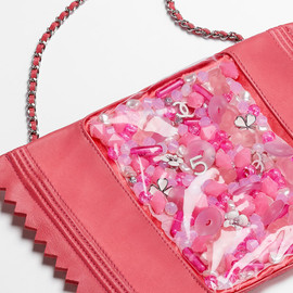CHANEL - Lambskin and PVC bag embellished with candy embroideries