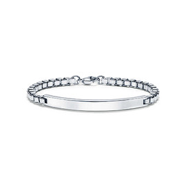 TIFFANY&Co. - Venetian Link I.D. men's bracelet in sterling silver.