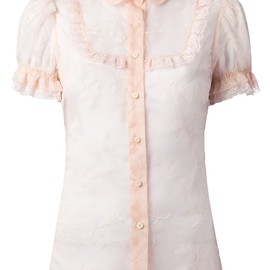 RED VALENTINO - floral lace blouse