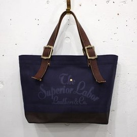 THE SUPERIOR LABOR - 【THE SUPERIOR LABOR】別注 engineer tote bag S/NAVY(新ロゴ)